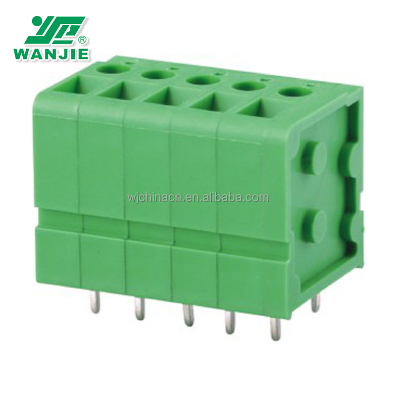 WJ105VA Tetap Papan Sirkuit Cetak (PCB) Terminal Block Screw Clamp