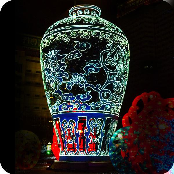 Hanging cloth silk lanterns vietnam chinese dragon hanging decorations