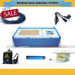 40W CO2 Laser Engraver Cutting Machine TS2030 mini engraving machine