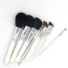 handmade Professional Foundation Brush  Cosmetic Tools Kit 10pcs Makeup Brushes Set