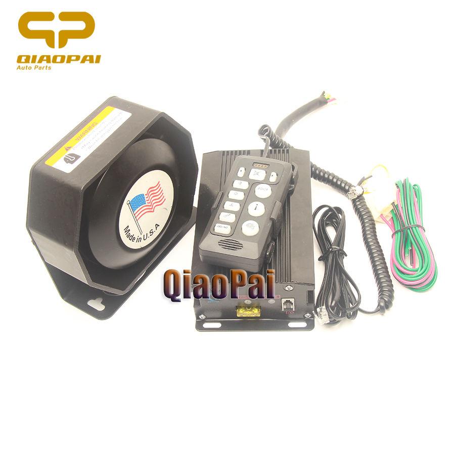 20W 12V 6 Sound Loud Car Warning Alarm Police Fire Siren Horn