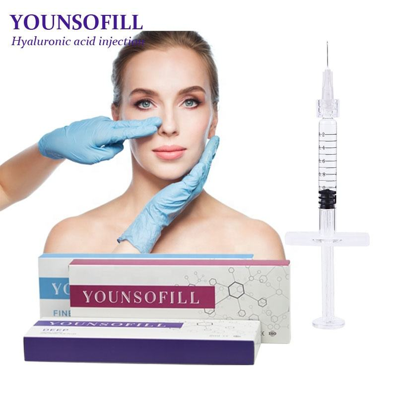 Younsofill derm 2ml skin whitening injection cheap price hyaluronic acid medical grade ha dermal filler wholesale