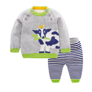 2018 new arrival children Lovely cartoon print baby kids sweater