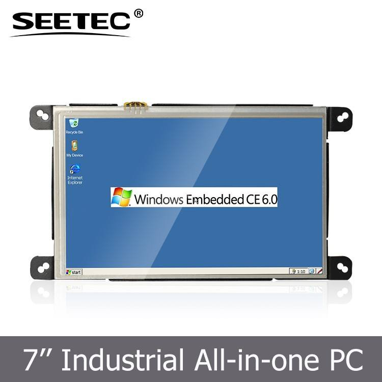 Pc Embedded 7 Inch Industrial Embedded Touchscreen All In 1 Battery Powered Mini Pc With WIN CE Linux Operate System