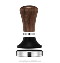 Hot Sale wooden handle coffee tampers with handles 58mm Espresso Stainless Steel Coffee tamper Bubinga