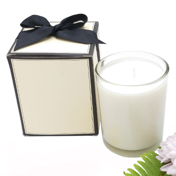 Glass Decorating Soy Wax Scented Candle Candle For Aromatherapy With Box Packaging
