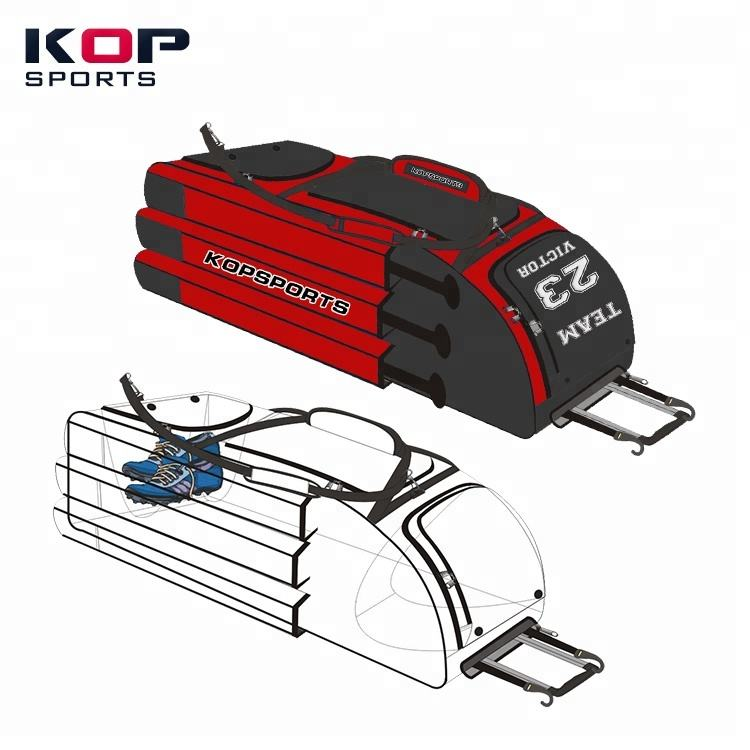 2021 KOP SPORTS high quality Best Softball Wheeled Baseball Bag with shoe compartment