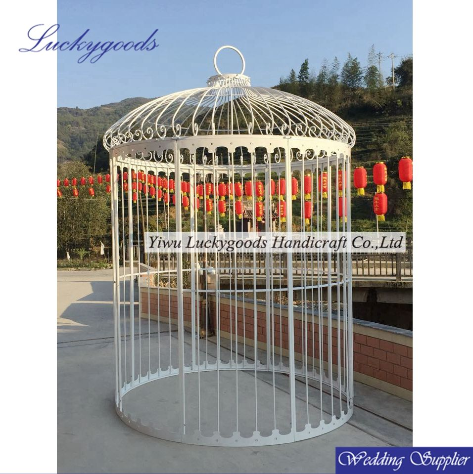 LBC097 hot selling white decorative bird cages cheap,wholesale bird breeding cages