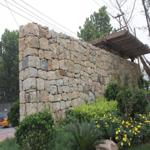 natural gold yellow quartz masonry stone brick wall