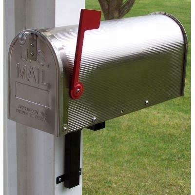Bo/îte aux lettres avec porte-journaux en acier inoxydable
