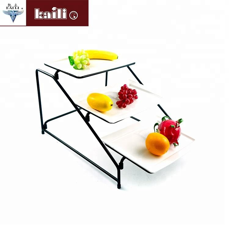 Commerciale Display Cremagliera 3 Tiers Piano Cibo Display Stand