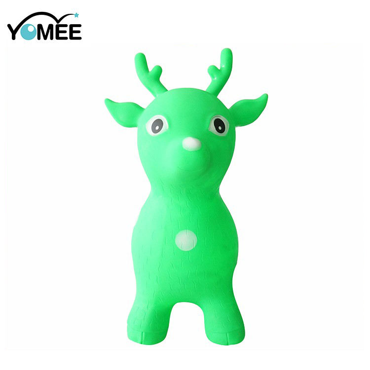 wholesale Colorful Drawing Inflatable Deer Animal Toys For Kids,Inflatable Hopper Animals