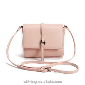 Fashion Women PU Handbags Candy Color Customized Crossbody Bag