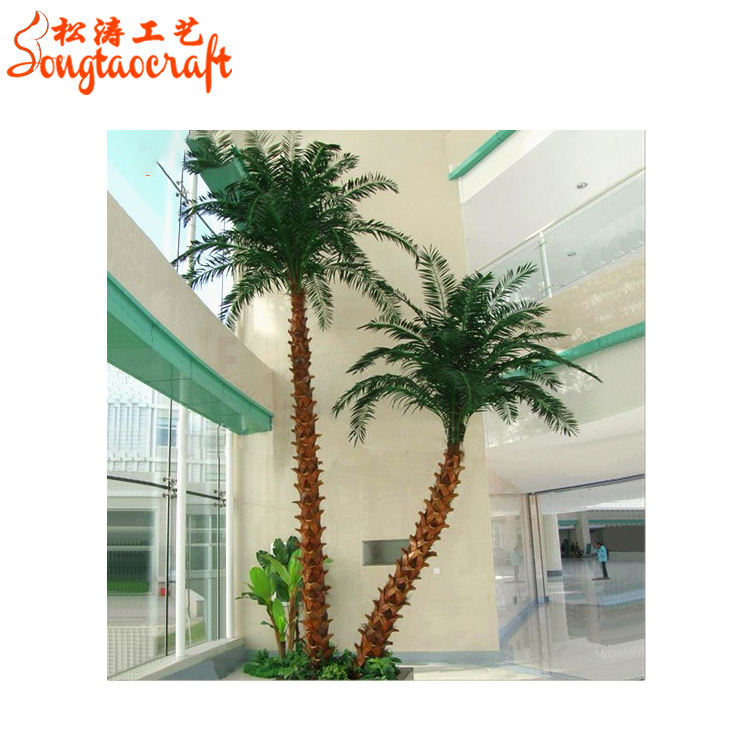 Hot sale artificial palm tree for decoration lobby wedding palm tree for models for washingtonia robusta palm tree