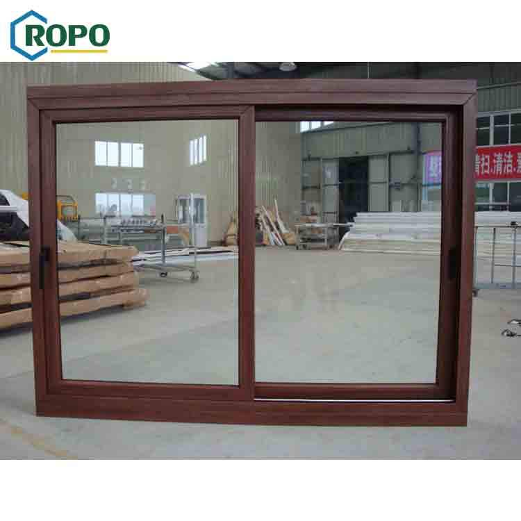 AWA German Veka UPVC/PVC Wood Color Frame Cheap House Windows For Sale