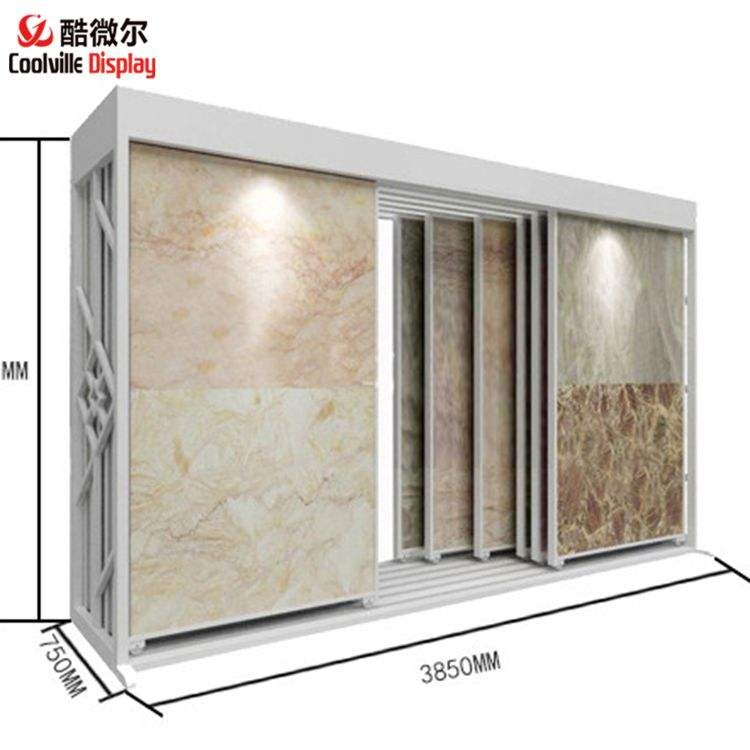 Sliding Stone Exhibition Stands Ceramic Tile Displays
