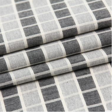 shirt fabric 100% cotton check fabric with good colourfastness