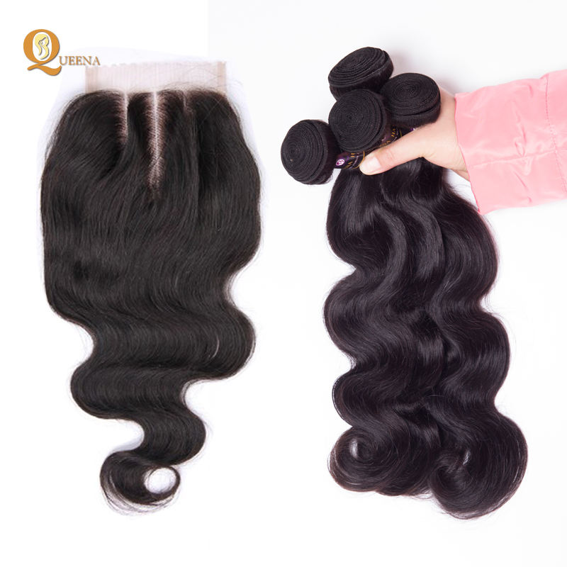 Body Wave Human Hair Bundle Extension With HD Lace Closure 4x4 Wholesale 12a Brazilian Cuticle Aligned Raw Virgin Hair Supplier