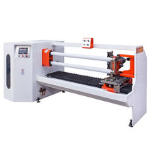 Double Rewinding Shafts Full Automatic Adhesive Tape Roll Cutting Machinery