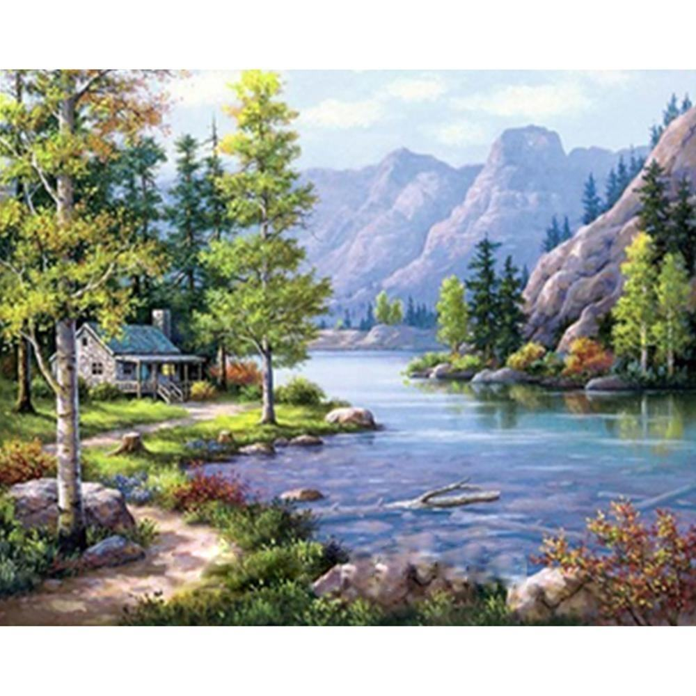Yuhui art whole sale landscapes DIY diamond painting 5d diamond painting painting on canvas by numbers