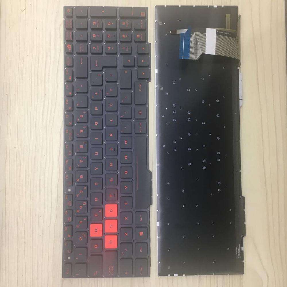 Wholesale Notebook Spare Parts for Asus GL553 Red Letters Po Layout Laptop Backlit Keyboard
