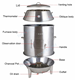 Commercial Bakery Roast Duck Oven Equipment, Stainless Steel Charcoal Chinese Roaster Duck Oven Chicken Oven