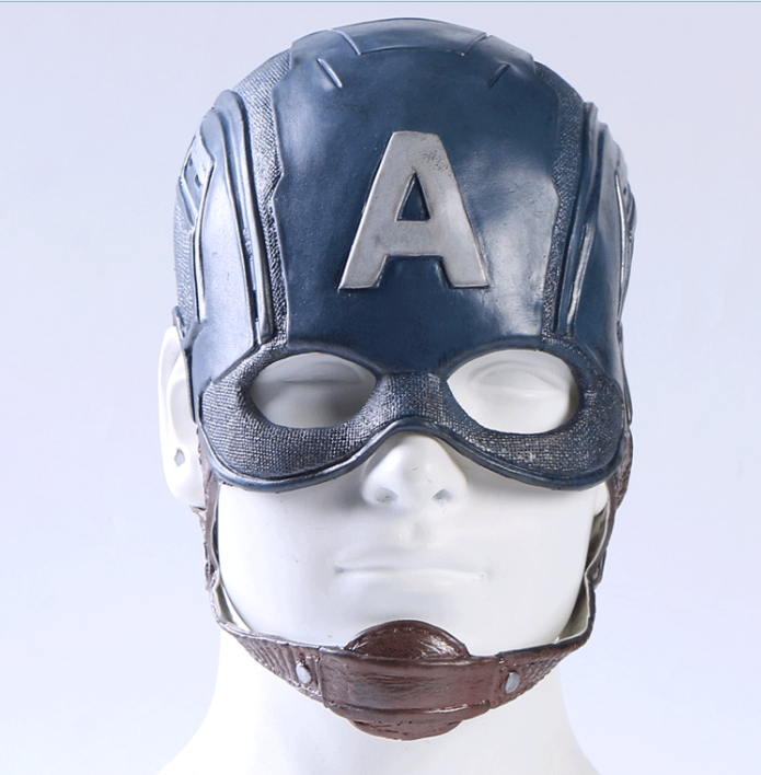 Amerikaanse Kapitein 3 <span class=keywords><strong>Latex</strong></span> Helm <span class=keywords><strong>Masker</strong></span> Mannen Halloween Dress Kostuum Party Props Cosplay Steven Rogers Superhero <span class=keywords><strong>Masker</strong></span>