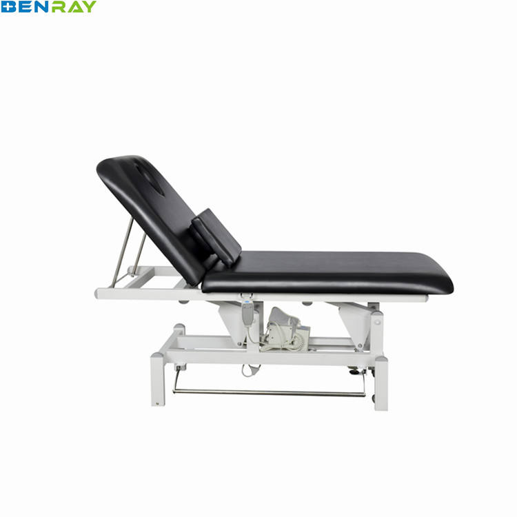 BR-MB16K Guangzhou Electric Linak Motor Two Section Leather Cushion Beauty Salon Tattoo Facial Bed Massage Bed Table