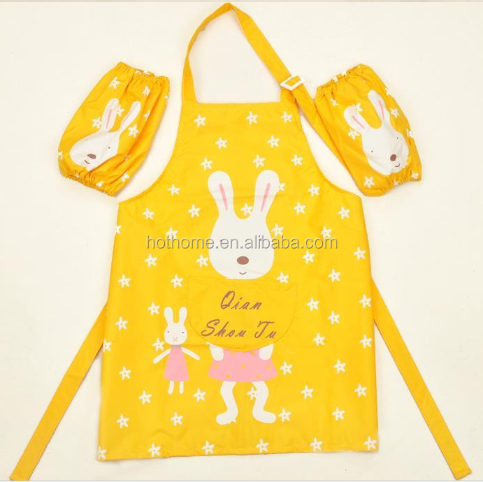 Cute Carton Reusable garden kids adults kids painting apron for kids