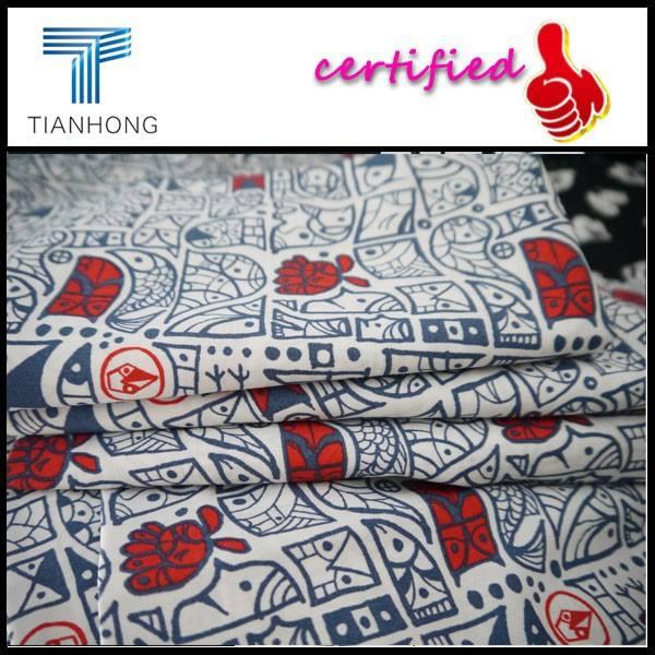 100 <span class=keywords><strong>coton</strong></span> imprimé tissu popeline / Owl tissu imprimé poisson / dernières créations tissu Bangladesh