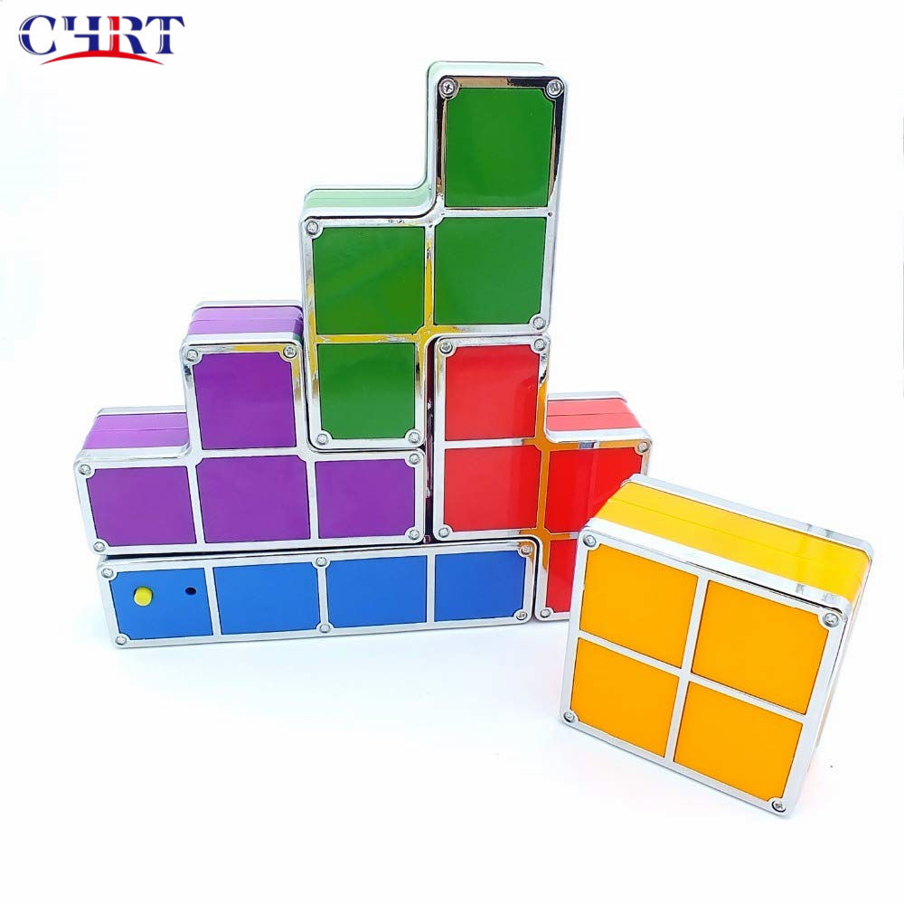 Chrt Portable Colorful Tetris Puzzle Kubus Lampu Mainan dengan LED Flash Light