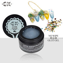 2019 CX Beauty professional no wipe sticky glue gel soak off uv led gel for nail decoration free sample available