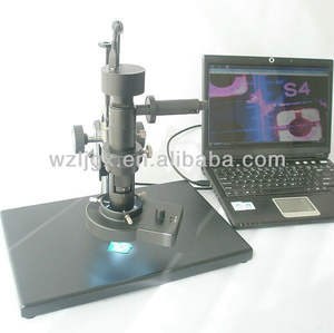 Low cost stereo zoom PCB inspection microscope with measuring function
