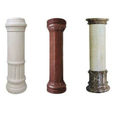 customize natural stone capitals interior decorative hollow columns