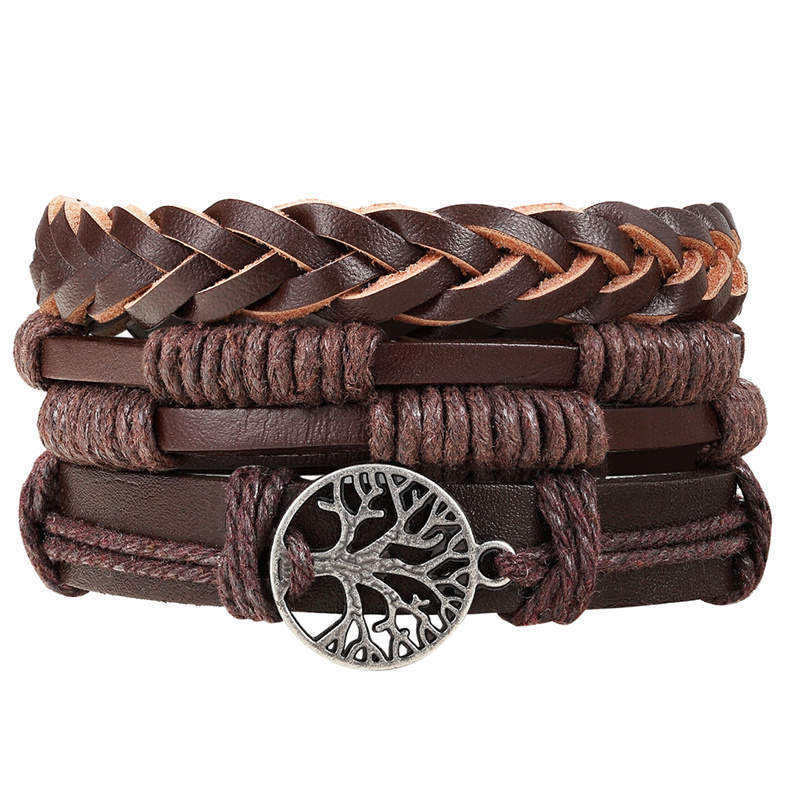 Fashion men leather bracelet set for Wholesale N80876