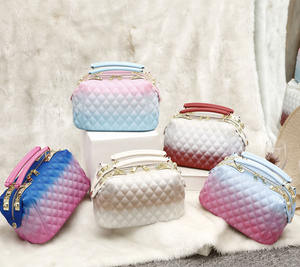 Wholesale best Price Candy Pvc Jelly Handbags Shoulder Style Women Jelly Bags 2020