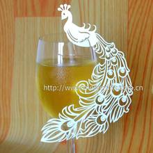 laser cut peacock favors for weddings , peacock wedding cards for party decorations , wedding decoration peacock