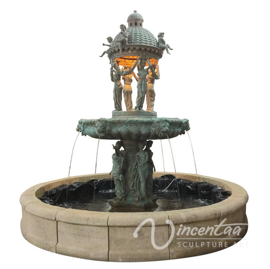 large brass fountain for a home owner association