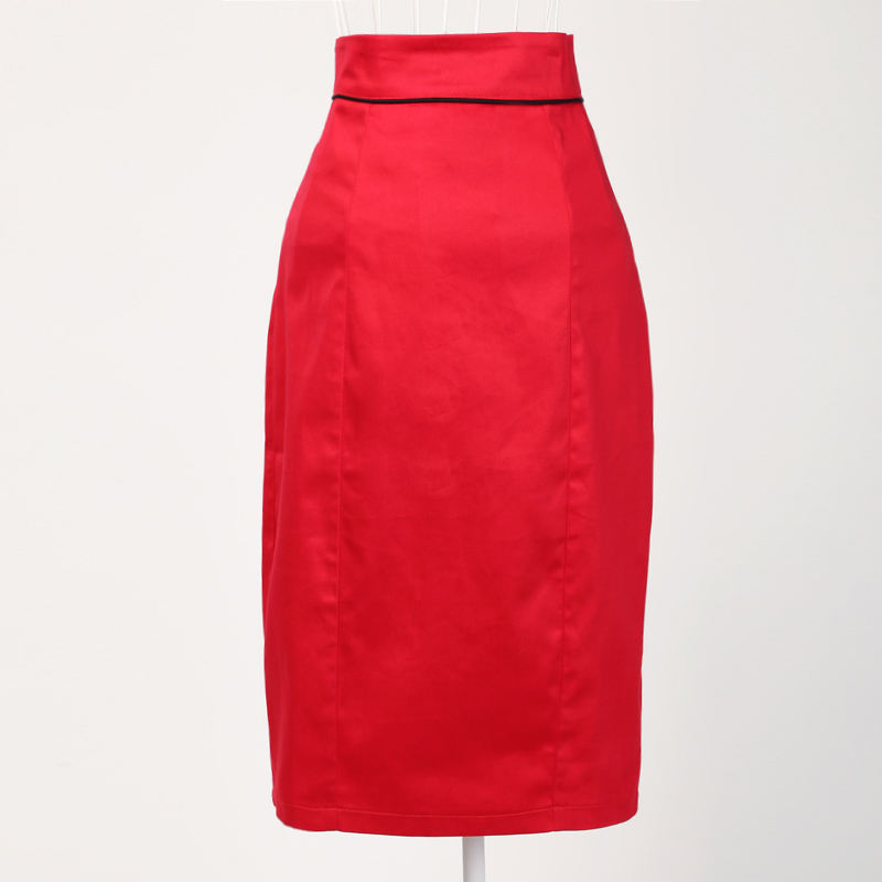 wholesale clothing online from china 100% cotton high waist skirt the red pencil skirts