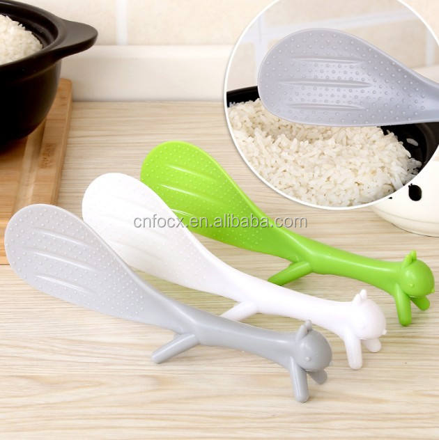 Free Standing Rice Scoop / Non-stick Table Spoon / plastic rice spoon