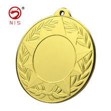 Customer Size antique silver metal 3d effect stamped iron medal