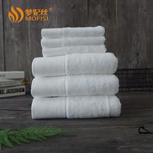 Hotel 100% cotton white face towels logo on sale