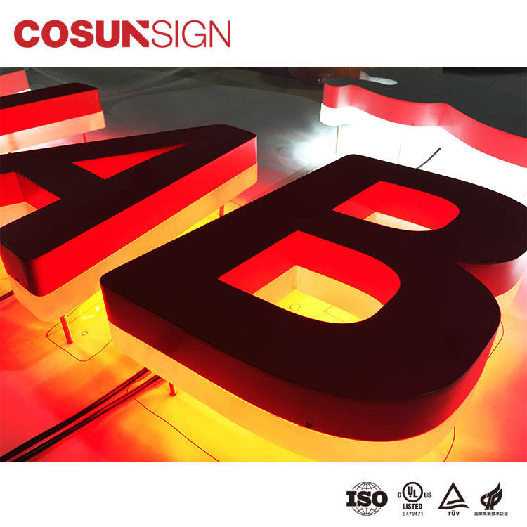 Cosun Sign Acrylic Metal Led Channel Alphabet Letter Sign