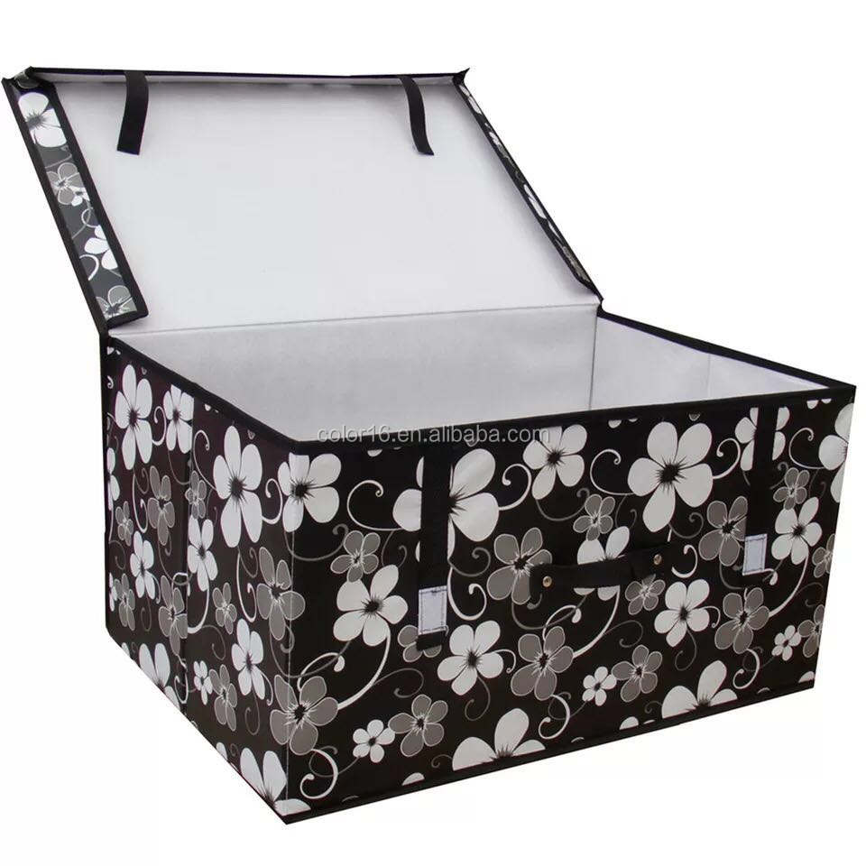Custom cheap nonwoven small foldable clothes fabric cube storage boxes