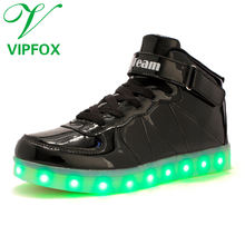 Top ShinyNight USB Charging 11 Colors LED Shoes Flashing Sneakers for Mens Womens Girls Boys