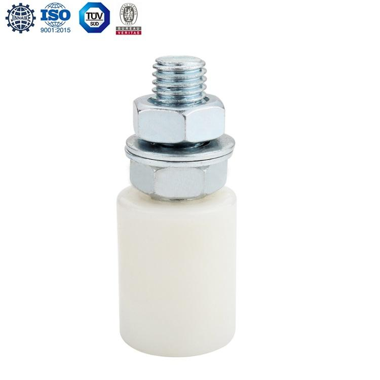 White nylon guide roller wheel used for automatic cantilever sliding door