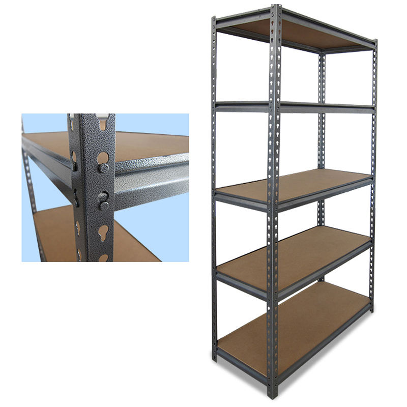5 Tier Industrial Garage Warehouse Shelves Metal Wire Shelving Storage Racking Units