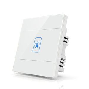 Interruptor de pared inteligente de Panel de vidrio templado 1 Gang 1 Way Interruptor táctil Wifi