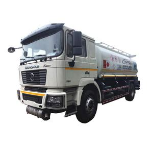 Shacman 4x2 fuel tank truck with dispenser/15000liters fuel tanker truck capacity