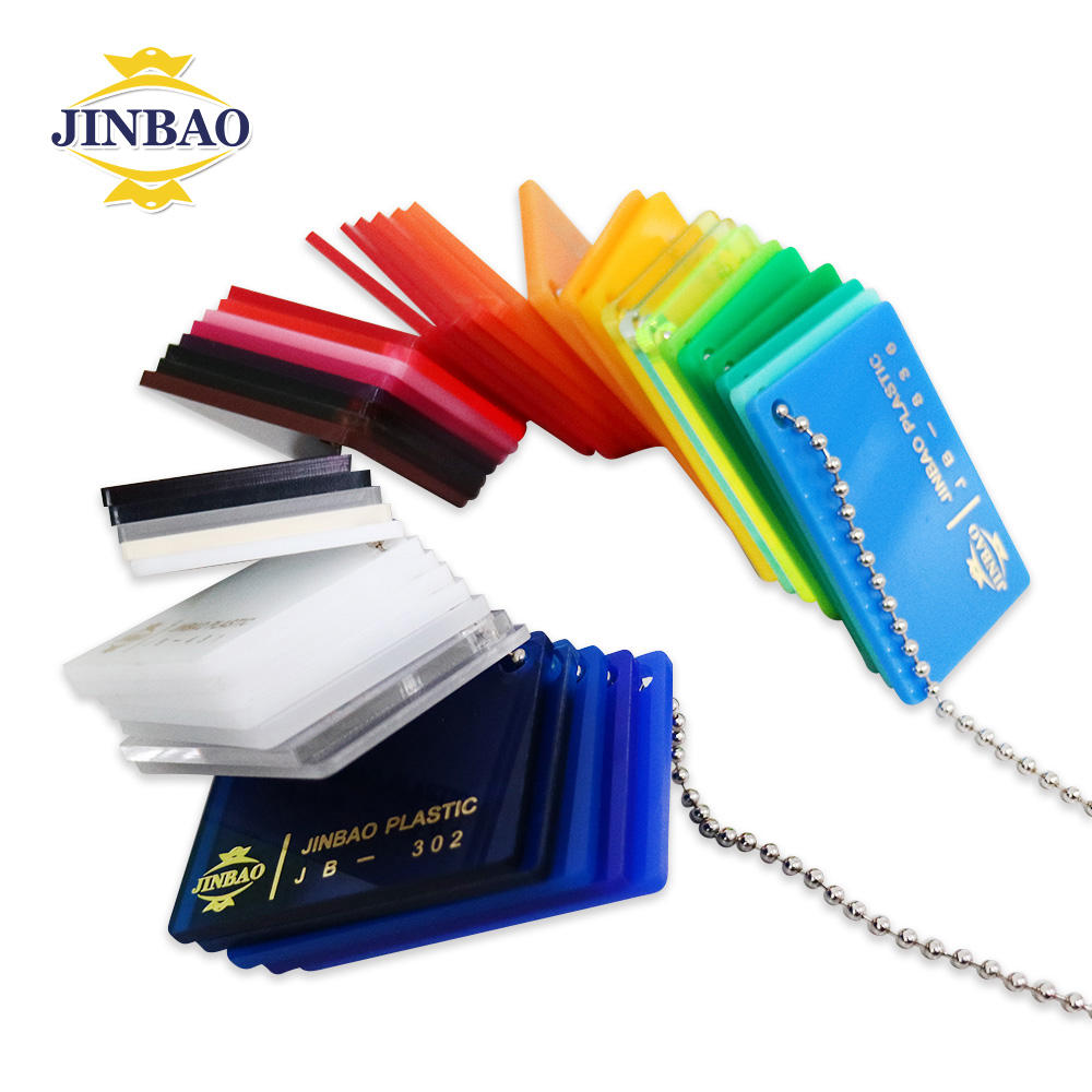 JINBAO manufacturer 3mm 5mm 6mm thick color extruded cast pmma / acrylic /white perspex sheet in factory price